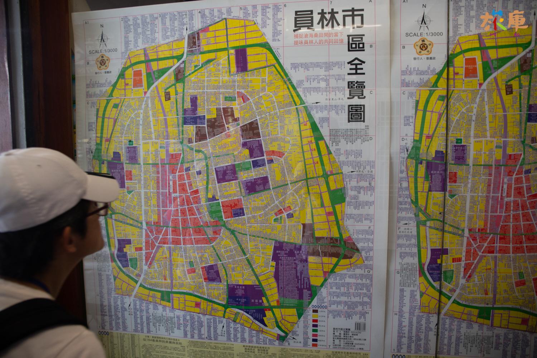 在員林第一市場內發現─張內容詳盡的市區全覽圖(由張嘉政先生發行)