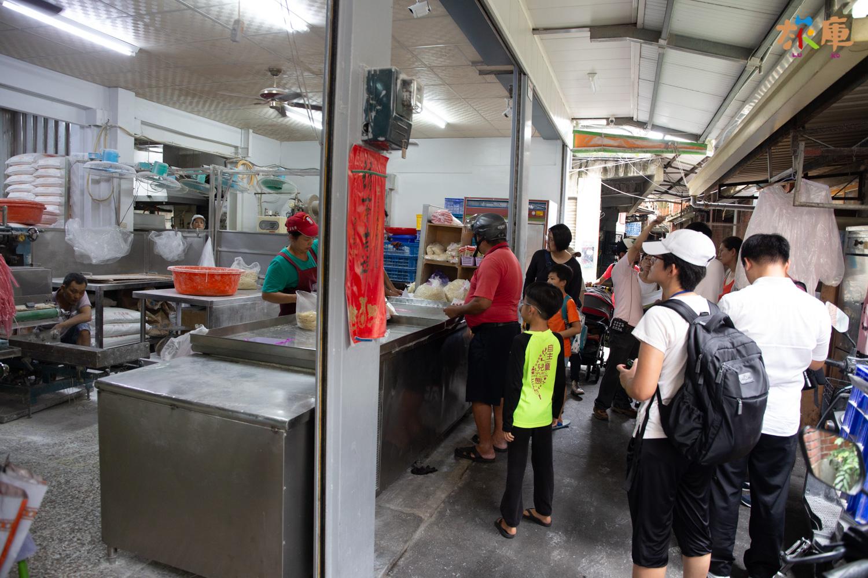 員林第一市場內的製麵店