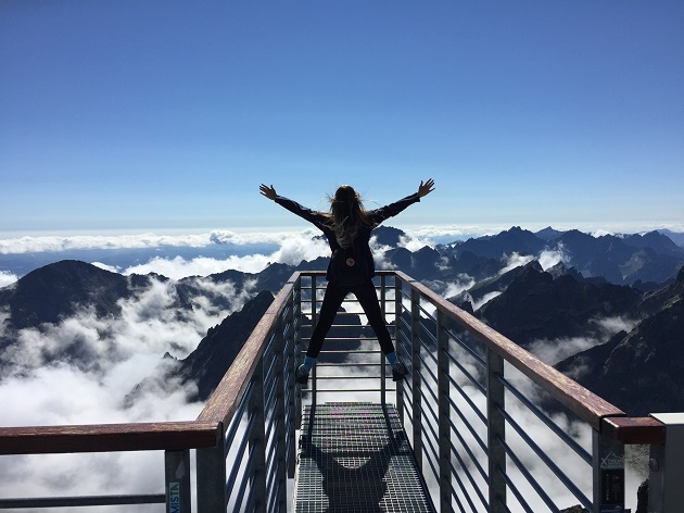 person-standing-on-hand-rails-with-arms-wide-open-